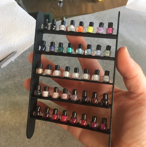 Miniature Nail Polish Display