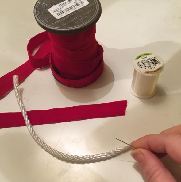 DIY Red Velvet Doll Ropes
