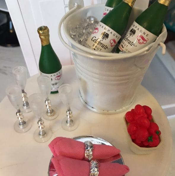 DIY Miniature Champagne Flutes